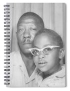 Young Angela With Her Dad Spiral Notebook