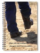 Young Cowboy With Spurs Spiral Notebook