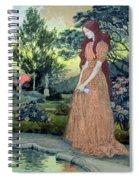 Young Girl In A Garden  Spiral Notebook