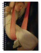 Young Girl On A Swing Spiral Notebook