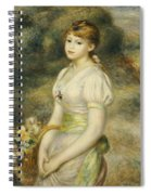 Young Girl With A Basket Of Flowers Spiral Notebook
