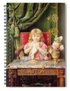 Young Girl With A Dove   Spiral Notebook