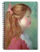 Young Girl With Long Hair In Profile Spiral Notebook