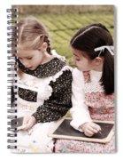 Young Girls Doodling Spiral Notebook