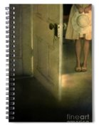 Young Lady By Open Door Spiral Notebook