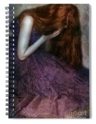 Young Lady Crying Spiral Notebook