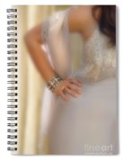 Young Lady In Satin Gown With Hand On Hip Spiral Notebook