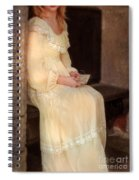 Young Lady In Yellow Gown With Letters Spiral Notebook