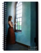 Young Lady Looking Out Window Spiral Notebook