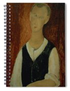 Young Man With A Black Waistcoat Spiral Notebook