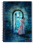 Young Woman Alone In Pink Gown  Spiral Notebook