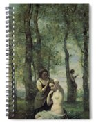 Young Woman At Her Toilet Spiral Notebook