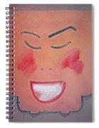 Young Woman Kimono Spiral Notebook