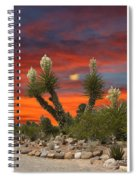 Yucca Blooming Sunset-moonset Spiral Notebook