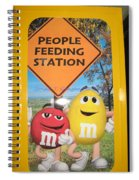 Yummy M And M's Spiral Notebook