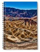 Zabriskie Point Panorama Spiral Notebook