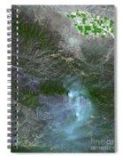 Zaca Fire In Southern California Spiral Notebook
