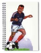 Zinedine Zidane 01 Spiral Notebook