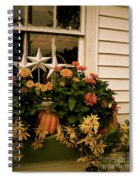 Zinnias In The Window Box  Spiral Notebook