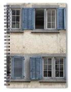 Zurich Window Shutters Spiral Notebook