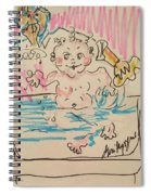 Bathing Time Spiral Notebook