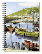 1900 Harbour View Mousehole Cornwall England Spiral Notebook