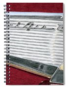 1957 Chevrolet Bel Air Convertible Spiral Notebook