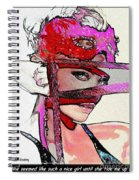 # 39 Charlize Theron Portrait Spiral Notebook