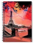 # 9 Paris France Spiral Notebook