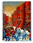 A Beautiful Day For The Game Spiral Notebook