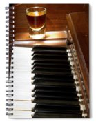 A Shot Of Bourbon Whiskey And The Black And White Piano Ivory K Spiral Notebook