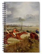 A Steeplechase - Near The Finish Spiral Notebook