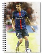 Angel Di Maria Controls The Ball Spiral Notebook