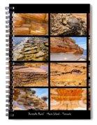 ' Australia Rocks ' - Maria Island - Tasmania Spiral Notebook