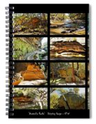 ' Australia Rocks ' - The Dripping Gorge - New South Wales Spiral Notebook