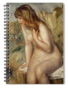 Bather Seated On A Rock Spiral Notebook