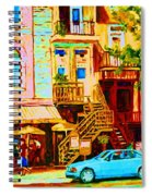 Beautiful Cafe Soleil Spiral Notebook