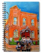 Beautiful Synagogue On Bagg Street Spiral Notebook