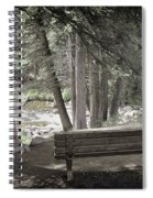 Bench By The Stream Spiral Notebook