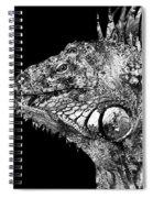 Black And White Iguana Art - One Cool Dude 2 - Sharon Cummings Spiral Notebook