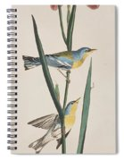 Blue Yellow-backed Warbler Spiral Notebook