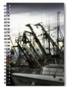 Boats With Sprays Of Light Spiral Notebook
