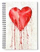 Broken Heart - Bleeding Heart Spiral Notebook