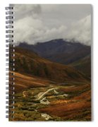 Brooks Range, Dalton Highway And The Trans Alaska Pipeline  Spiral Notebook