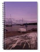 Canadian Harbor At Dusk  Spiral Notebook