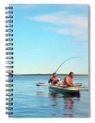 Canoe Fishing  On Blue Lake Spiral Notebook