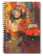 Clarice Cliff Rose Table  Spiral Notebook