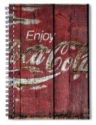 Coca Cola Sign Barn Wood Spiral Notebook