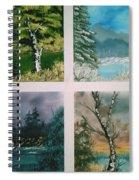 Colors Of Landscape Spiral Notebook