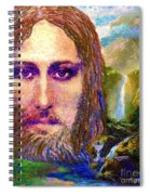 Contemporary Jesus Painting, Chalice Of Life Spiral Notebook